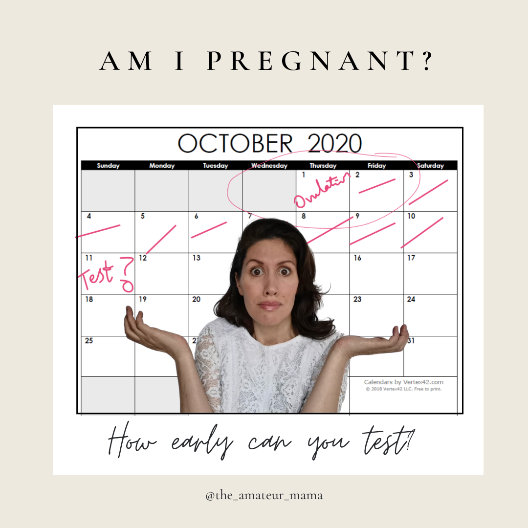 Am I pregnant? How early can I take a pregnancytest?